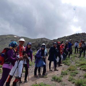 مسیر صعود به برف انبار